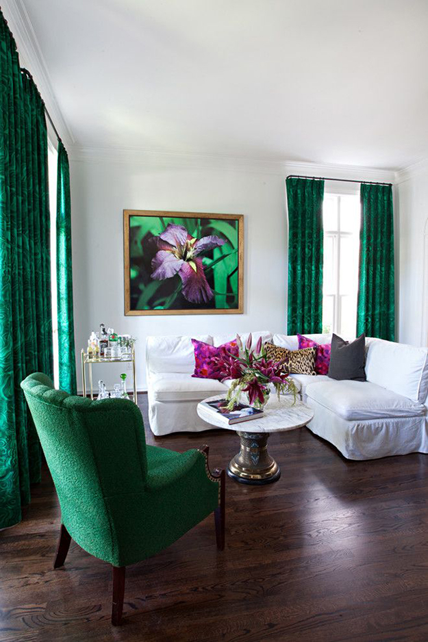 Colour watch emerald by kimberly duran the oak - Grey and emerald green living room ...