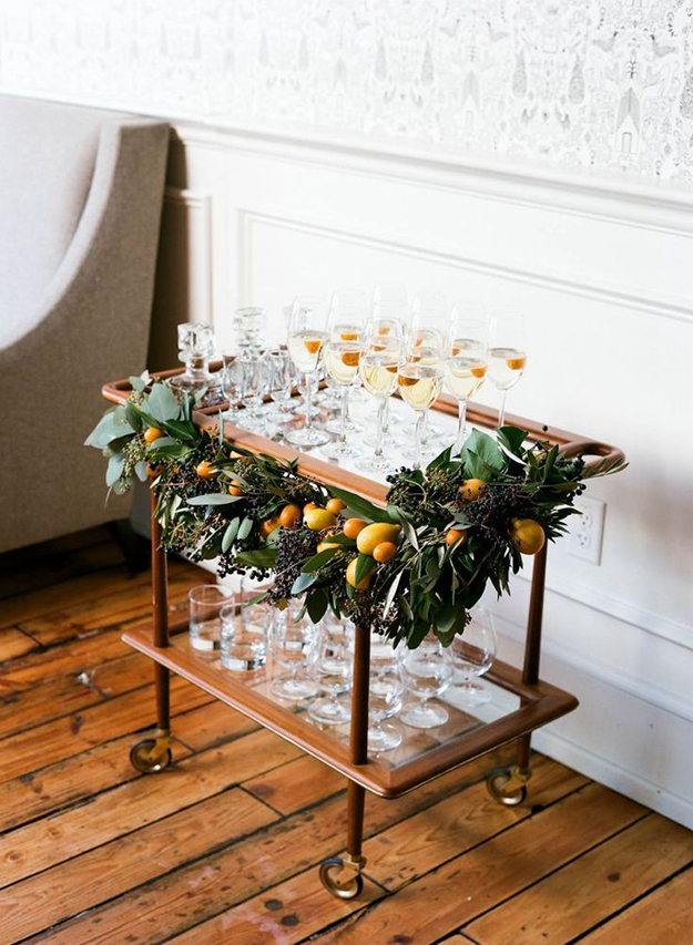 Christmas champagne bar
