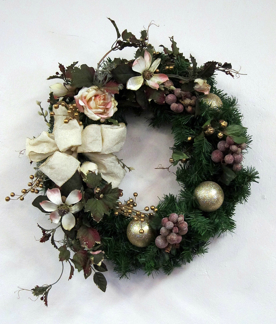 White frosted wreath