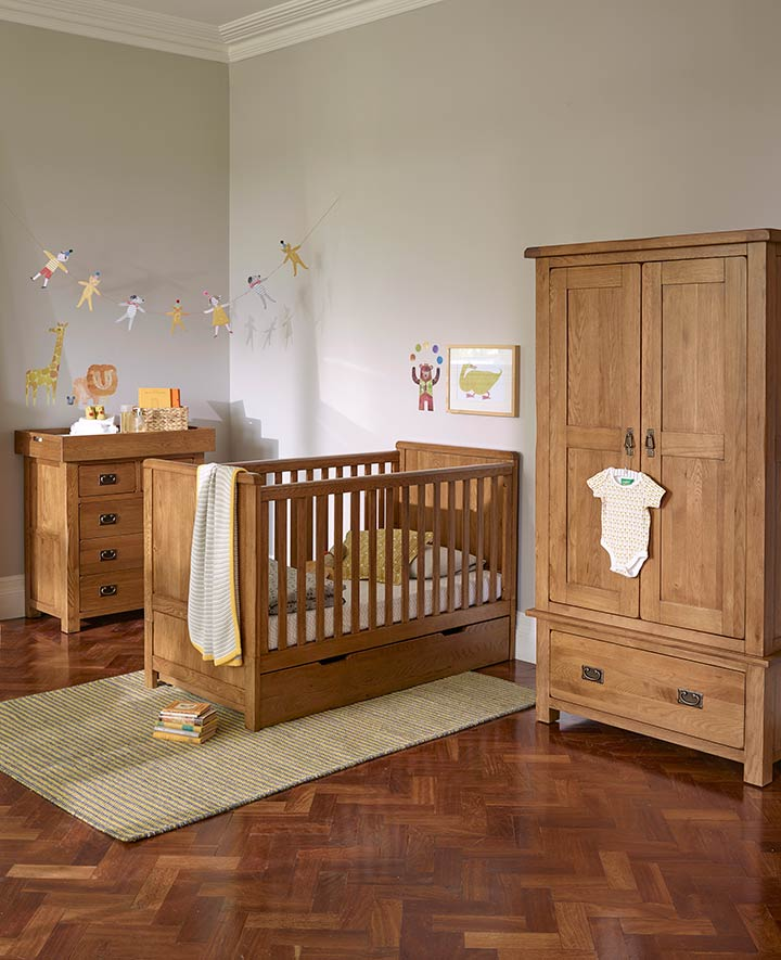 Oak Furniture Land Rustic Heather Nursery Range