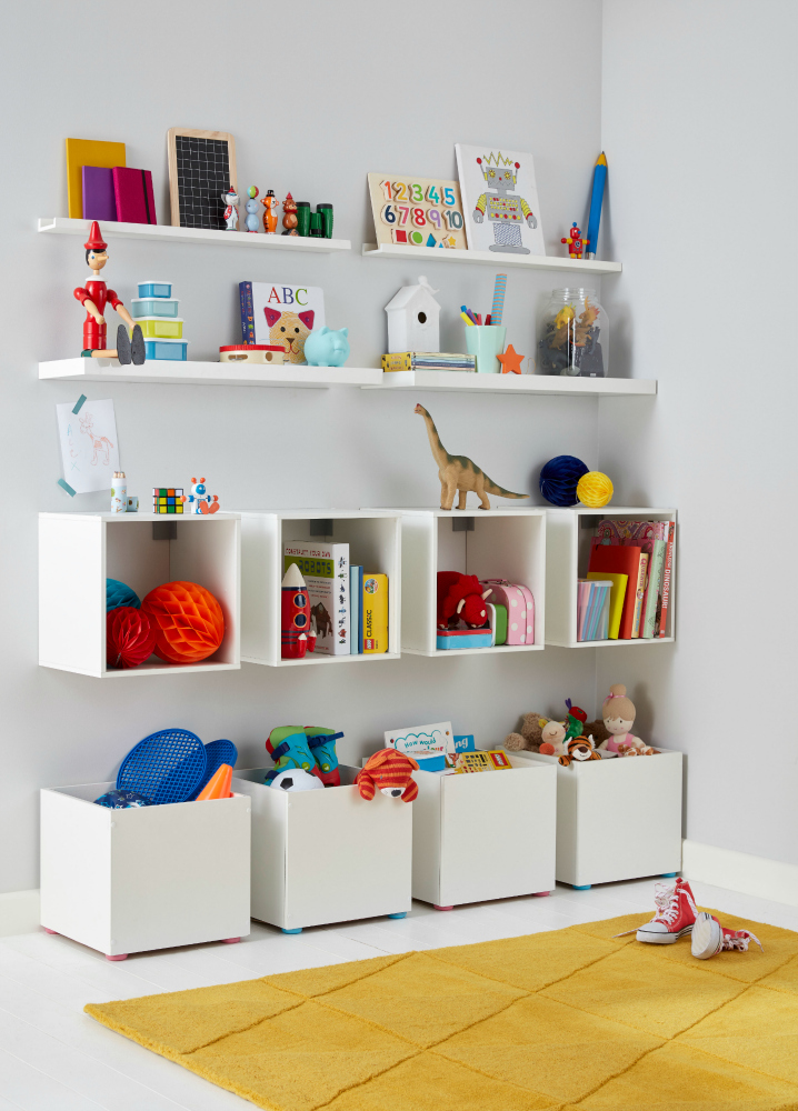 Form Kids Playroom Storage   Featuring Form Konnect 1x1 Cubes Form Floating  Shelves And Form Photo