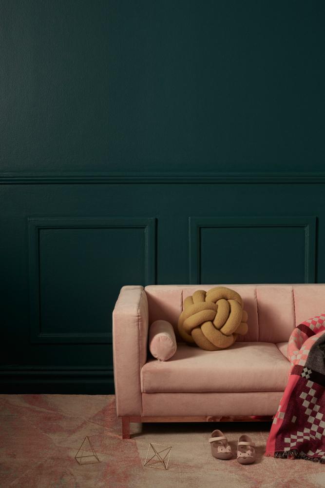 SETTEE - SOFA - pastel pink velvet SYBILLA