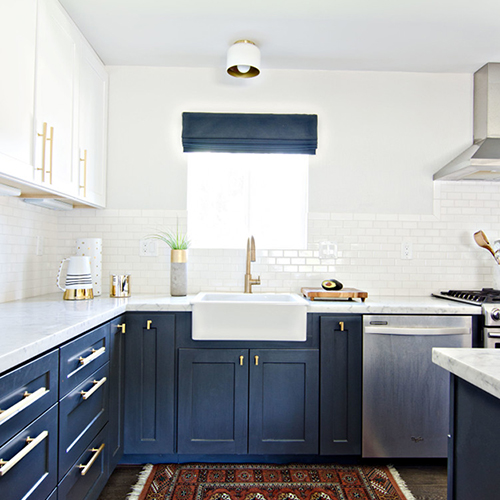 Trend Watch: Two Toned Kitchens By Kimberly Duran