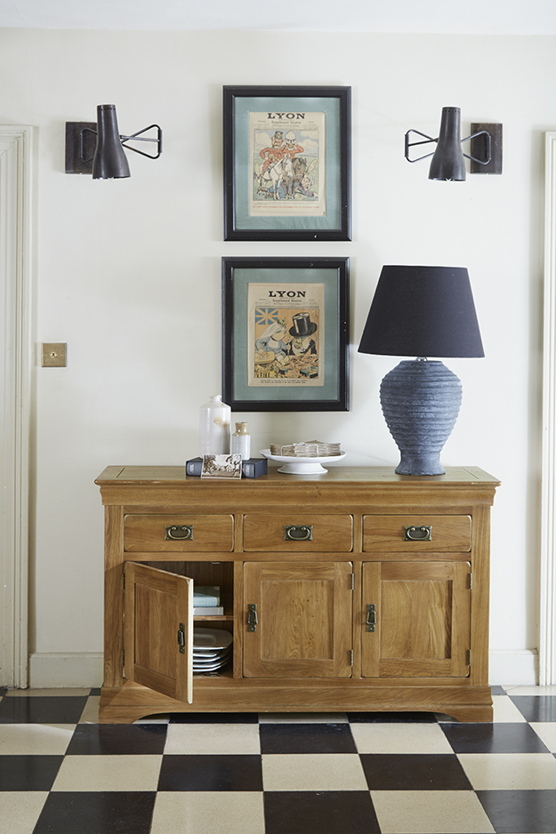 French Farmhouse sideboard with art
