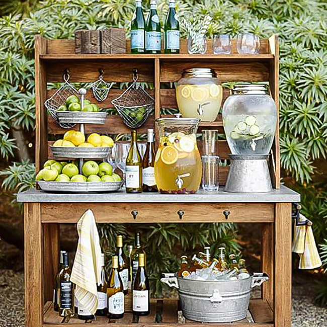 Outside Wedding Food Ideas: Drink Station Ideas For Your Summer Party