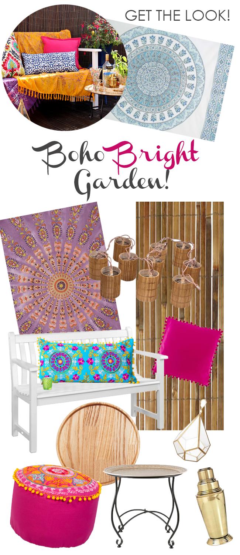 Get The Look- Boho Bright Garden