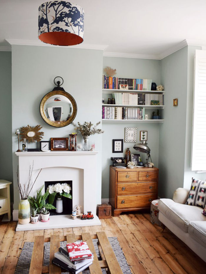 eclectic-modern-bohemian-vintage-interior-decor-farrow-ball-teresas-green-3