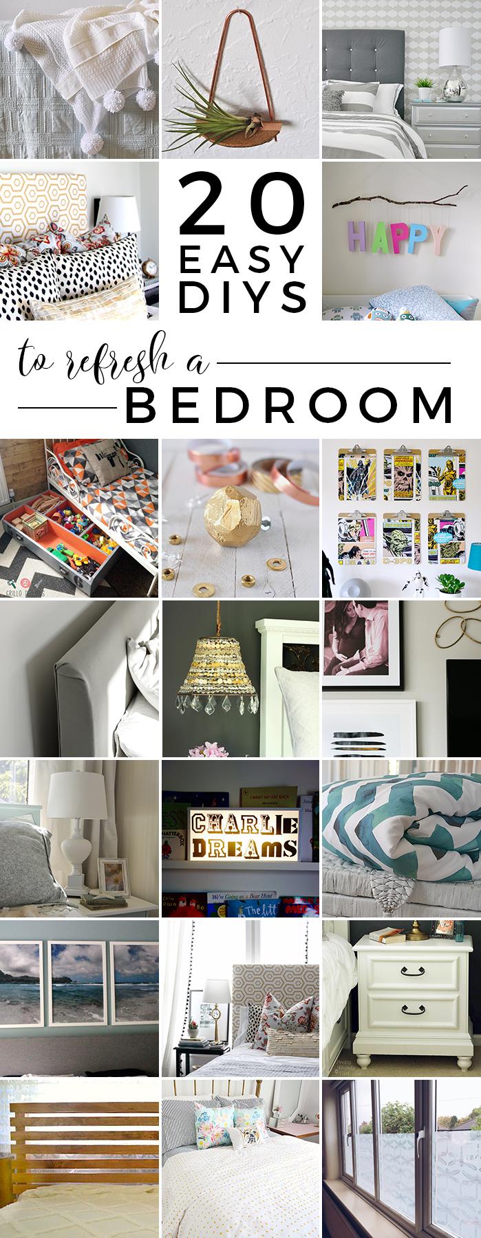 20 Easy DIYs to Refresh A Bedroom