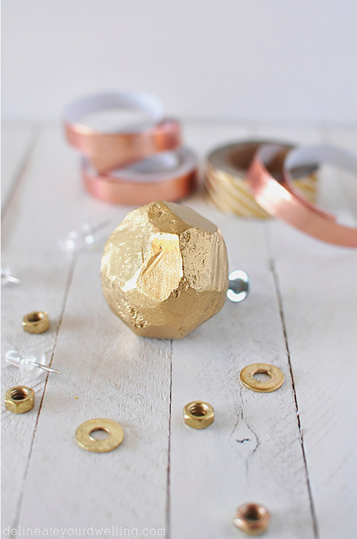 DIY Gold Clay Knobs by Delineate Your Dwelling