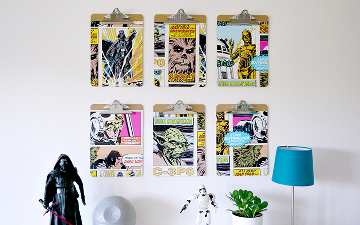 DIY Star Wars Feature Wall by The Ordinary Lovely