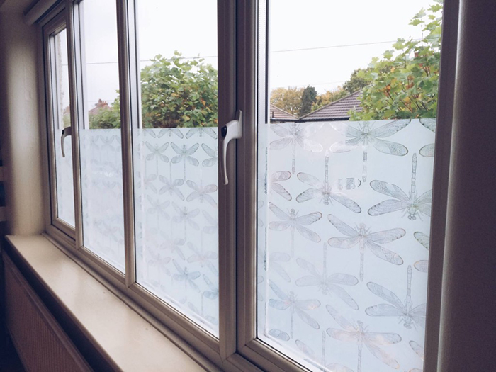 Easy Frosted Glass Windows by Old Fashioned Susie