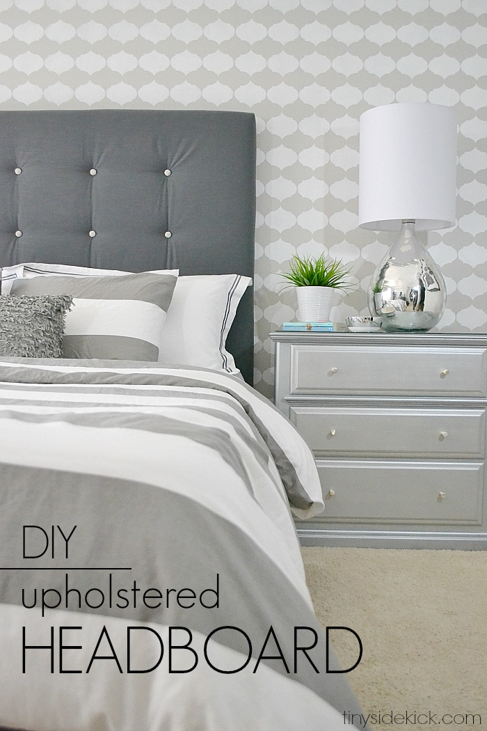 Hey There Home DIY Buttoned Headboard