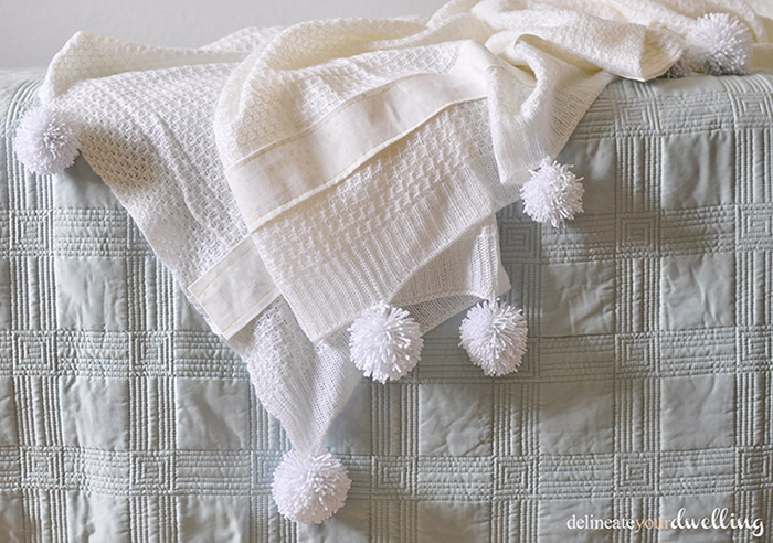 How to Add Pompoms to a Blanket by Delineate Your Dwelling