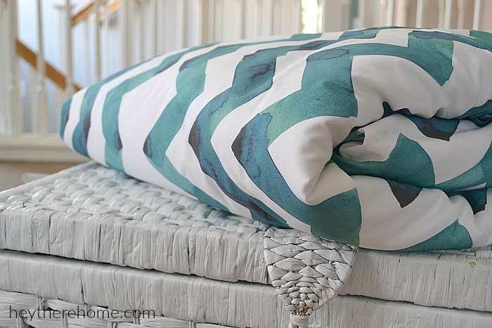 How to Make Your Own Duvet Cover by Hey There Home