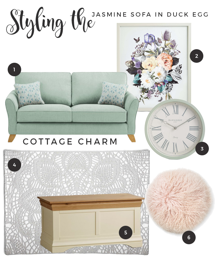 How to Style the Jasmine Range sofa Duck Egg - Country Charm