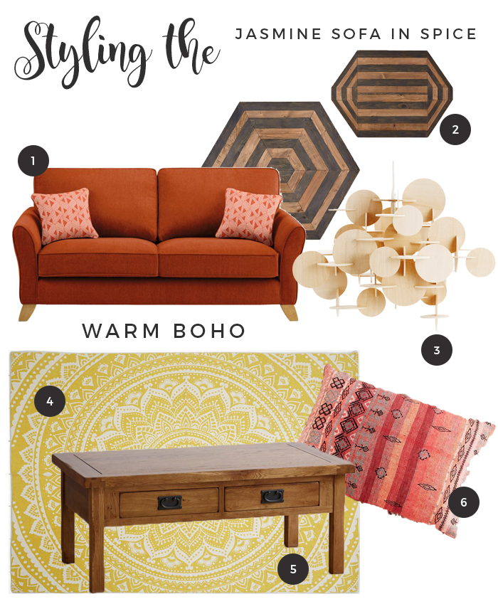 How to Style the Jasmine Range sofa Spice - Warm Boho
