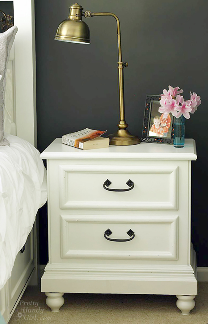 How to Update a Bedside TAble by Pretty Handy Girl