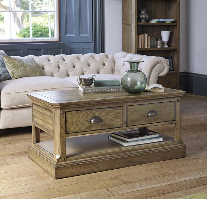 manor house coffee table by oak furniture land