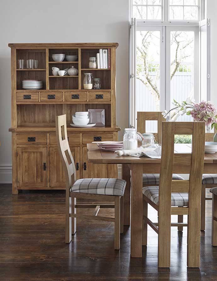 original rustic dining set with cabinet