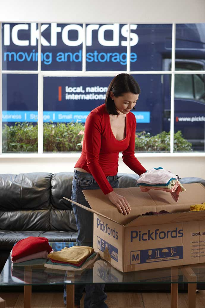 woman using pickfords professional moving services