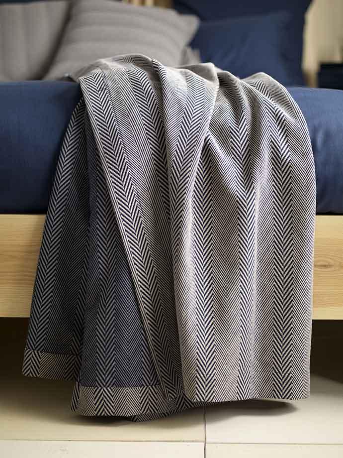 herringbone stripe throw from secret linen store