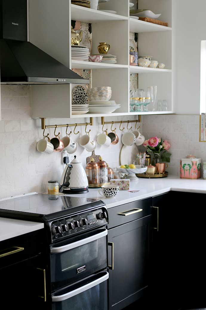 kitchen shelves interior design by swoonworthy