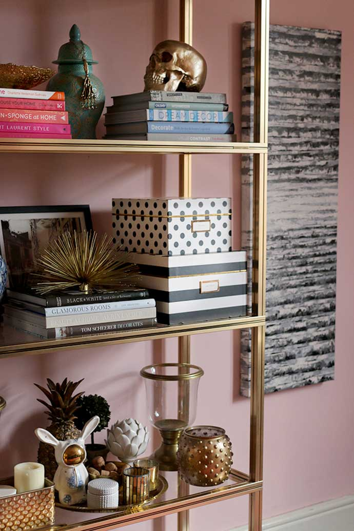 shelving decor from swoonworthy blog