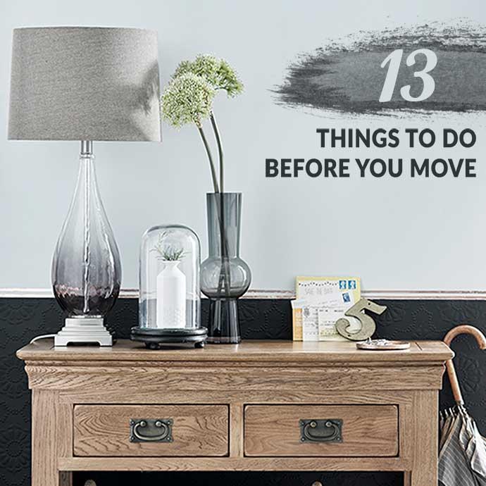 pre-moving checklist