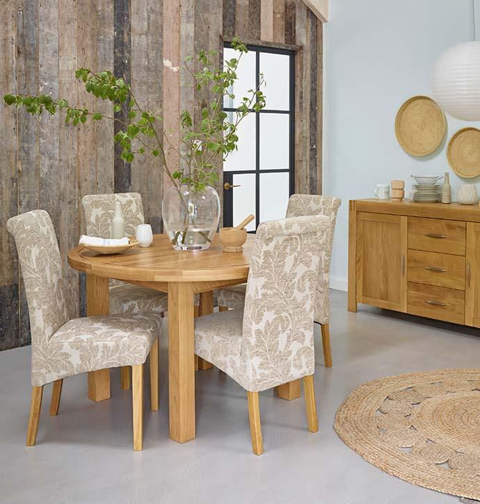knightsbridge dining table from oak furniture land
