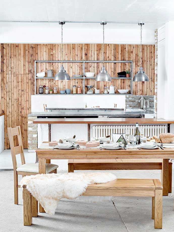 rustic scandi living room from oak furniture land