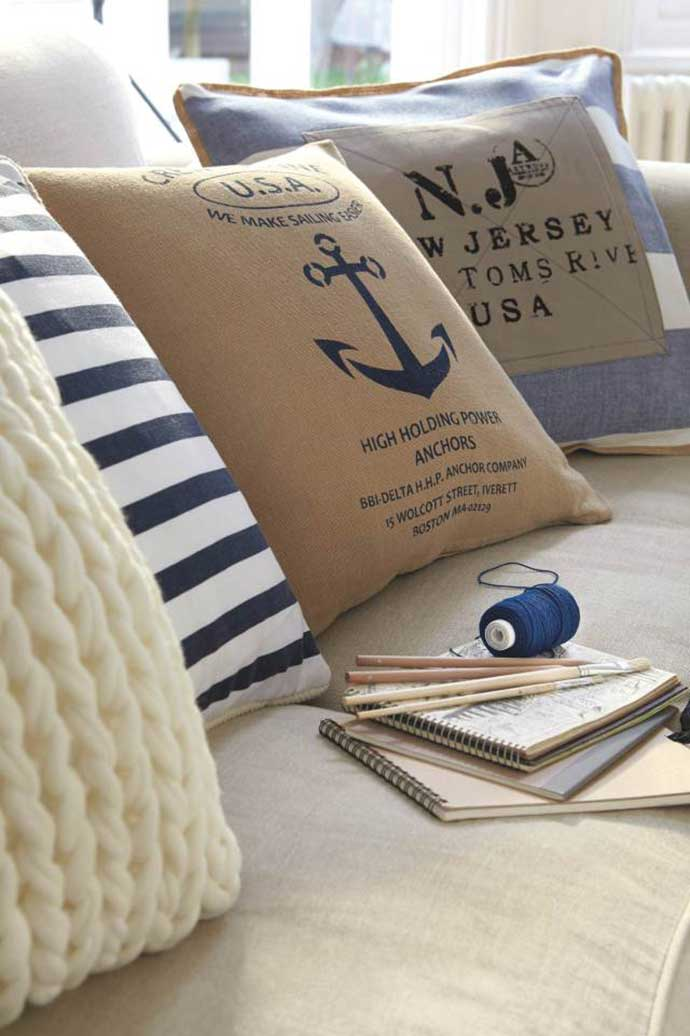 hamptons cushions by dunelm mill
