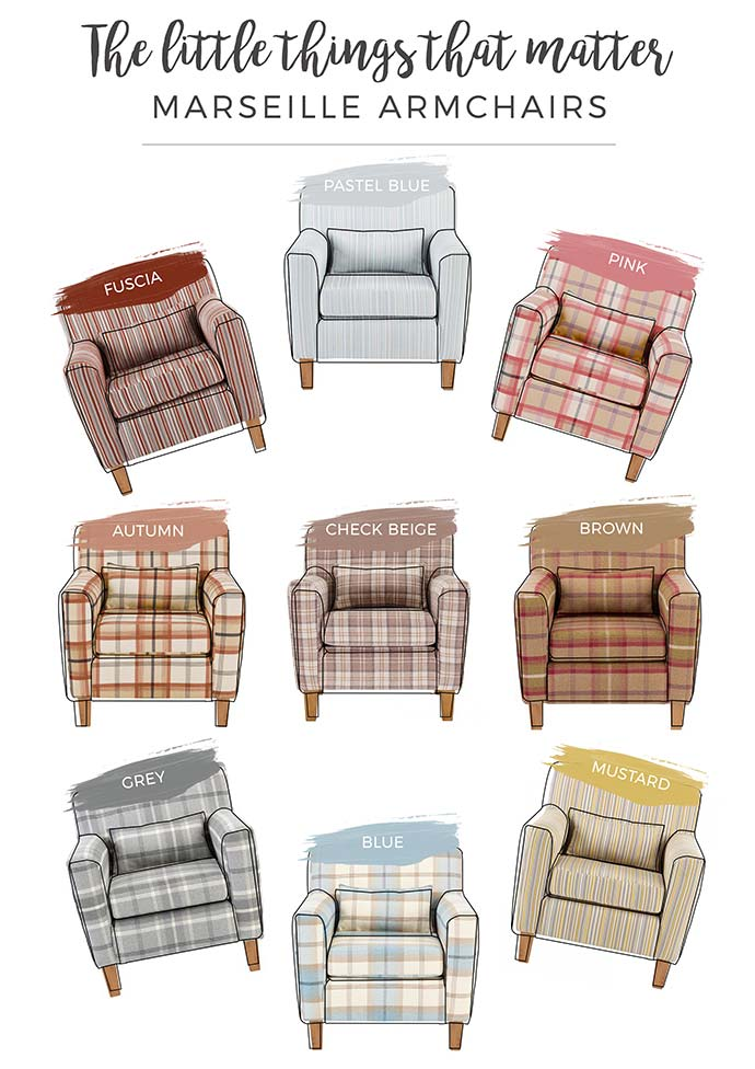oak furniture land marseille patterned armchairs