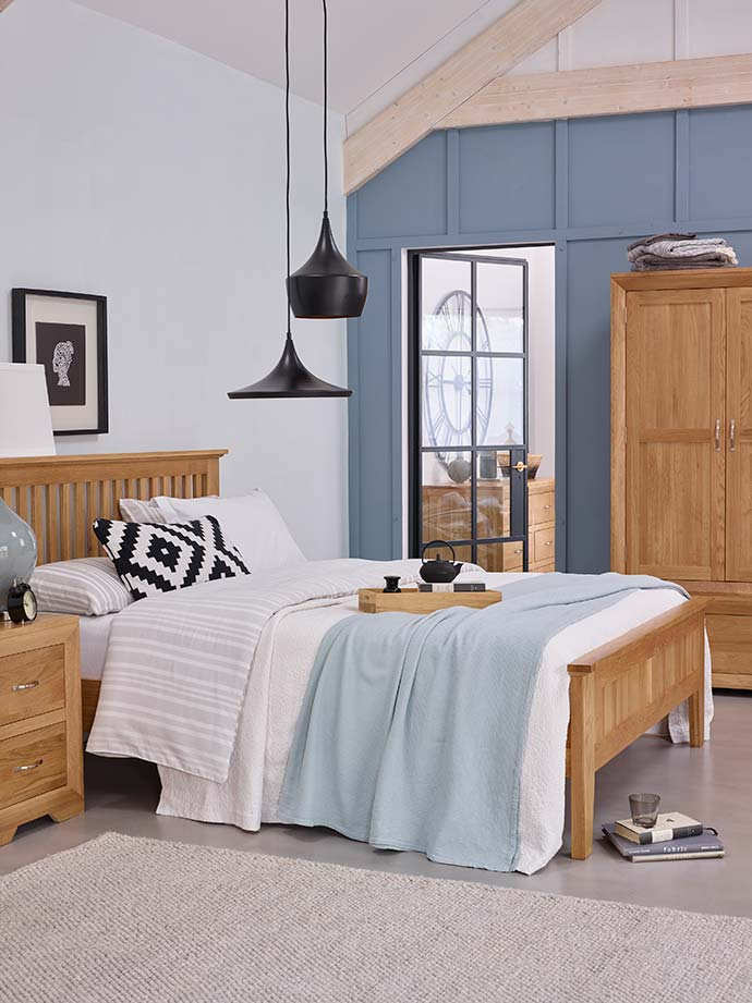 bevel bedroom blue