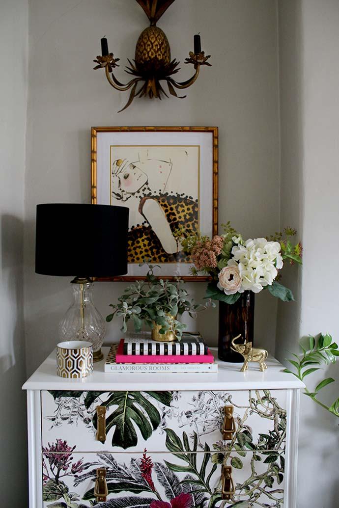 bold botanical style decor