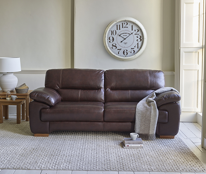 oak furniture land clayton leather sofa