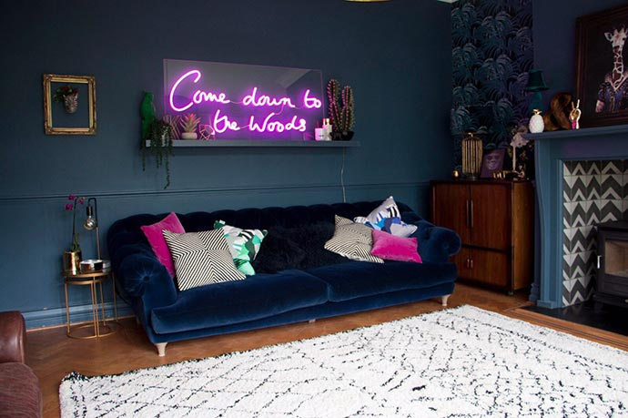 neon signs 2018 interior design trend