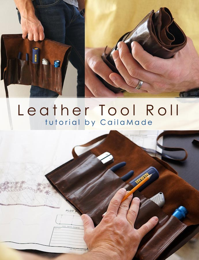 leather tool roll DIY project