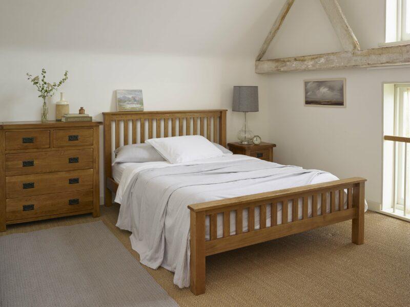 Rustic Oak Furniture in a bedroom