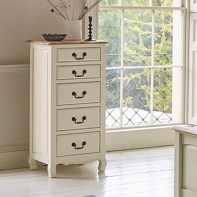 bella 5 drawer tallboy
