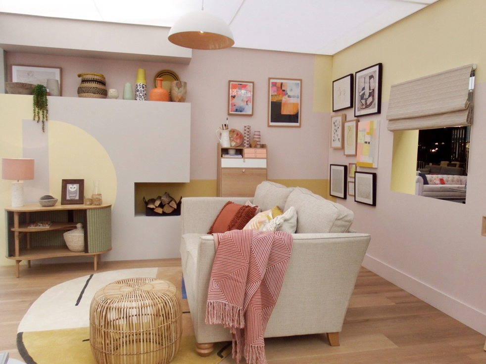 Family living room look at Ideal Home Show 2018