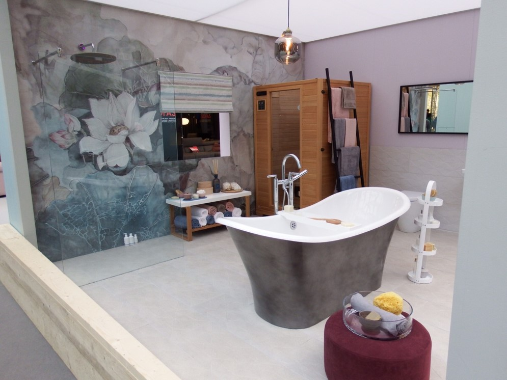 Wellness bathroom at Ideal Home Show 2018