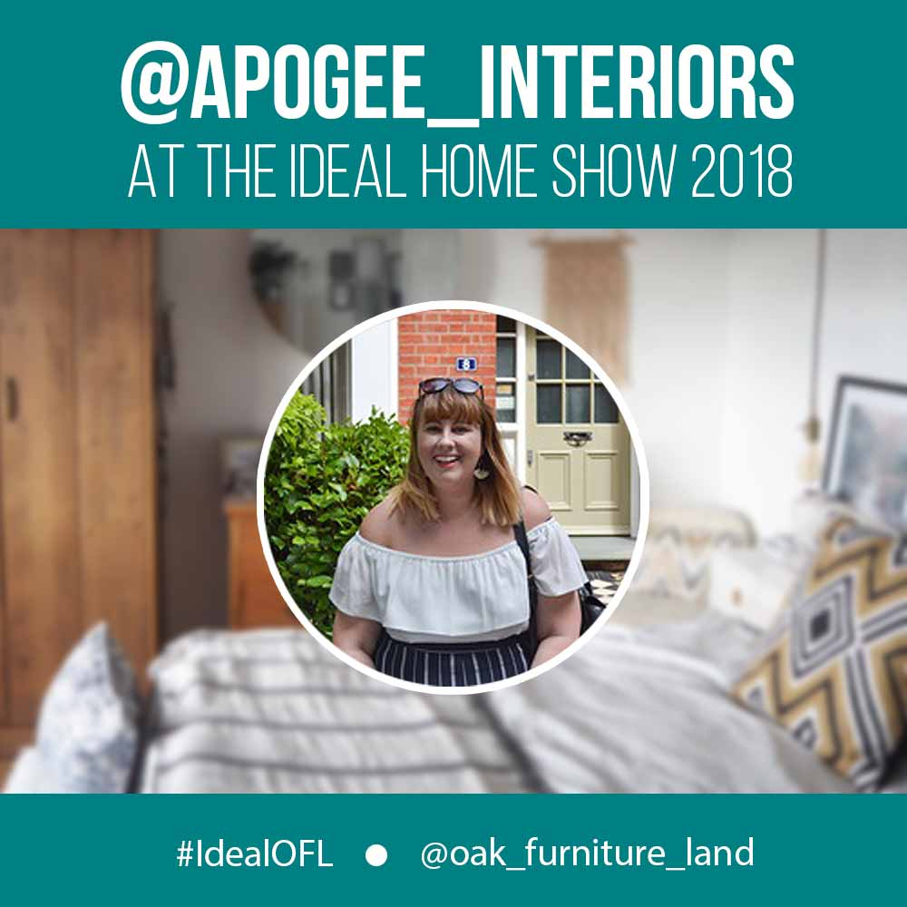 emma from apogee interiors at the ideal home show
