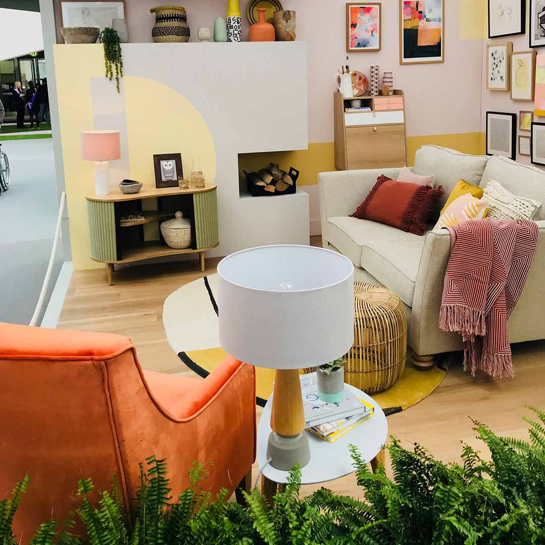 living room from the ideal home show