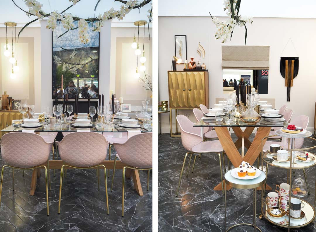 luxe dining room from the ideal home show