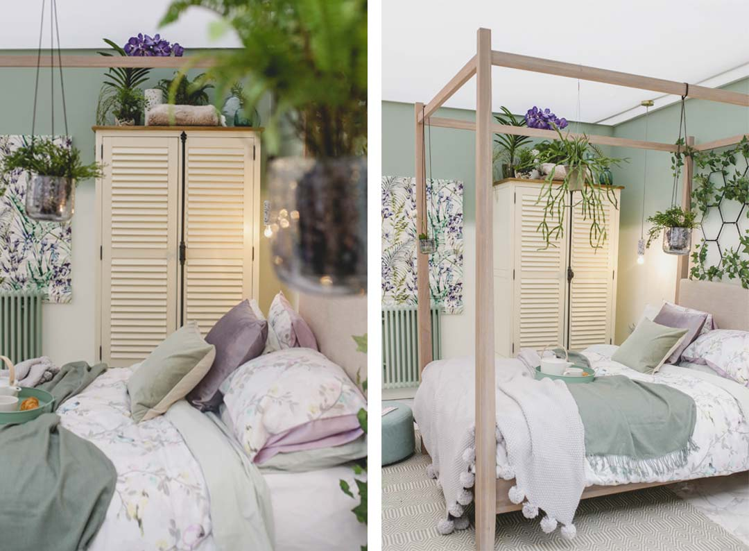 shutter wardrobe in botanical bedroom at the ideal home show