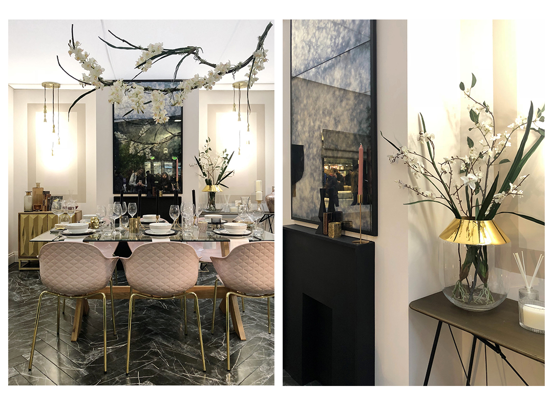 Luxe dining room at ideal home show
