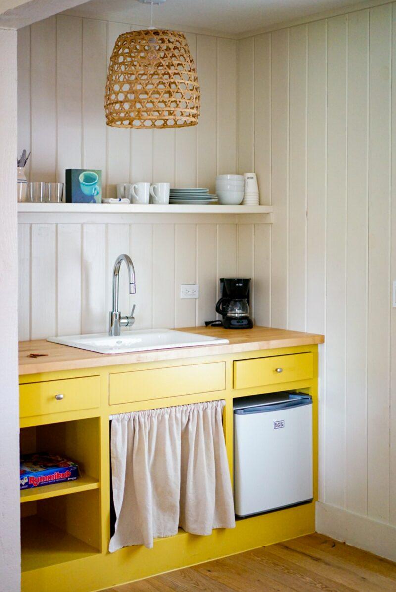 splash of yellow decor kitchen