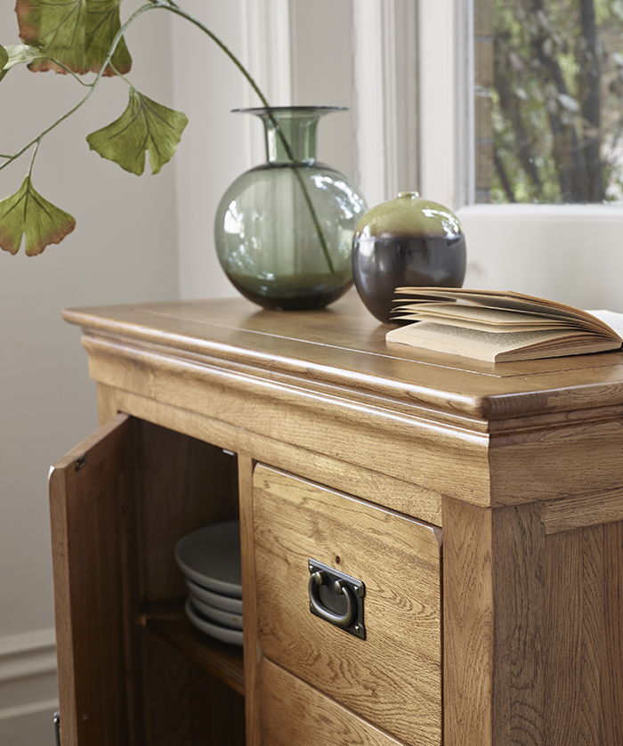 french farmhouse sideboard close up