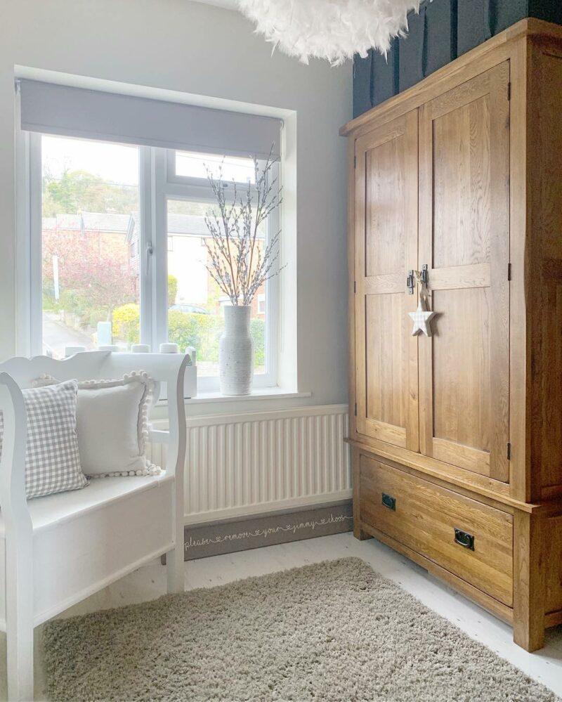 Original Rustic Oak double wardrobe