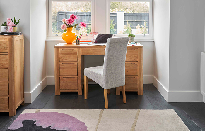 Romsey desk with scroll back chair